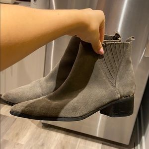 Guess/ Marciano suede fashion boots military green